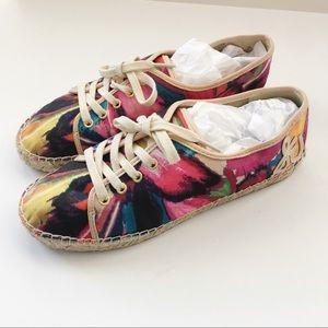 Sam Edelman |multi colored espadrille tennis shoes
